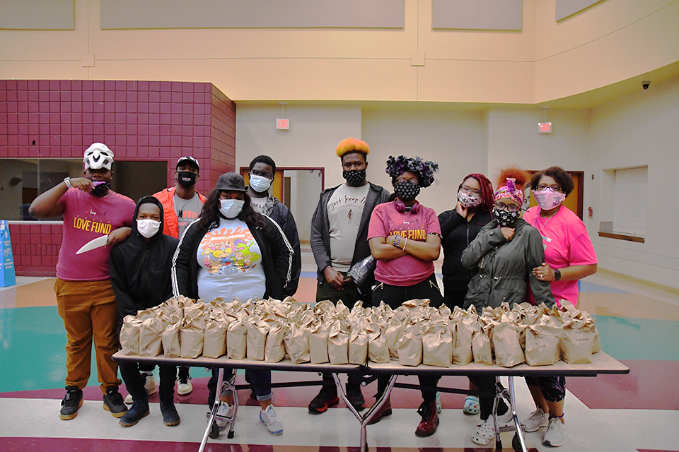 The Kevin Love Fund Donates Face Masks to jkl Students